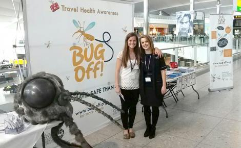 Bug Off campaign at Heathrow Airport