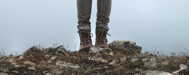Woman choosing the right walking boots