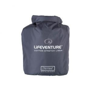 Cotton Stretch Sleeping Bag Liner in carry bag