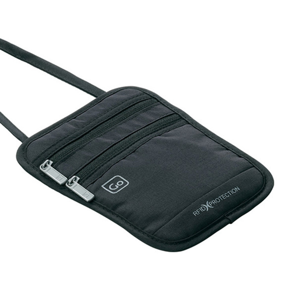 Passport Pouch RFID Black Detail