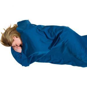 Polycotton Sleeping Bag Liner lying down
