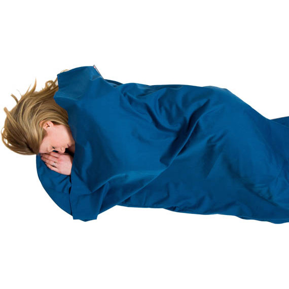 Polycotton Sleeping Bag Liner lying down