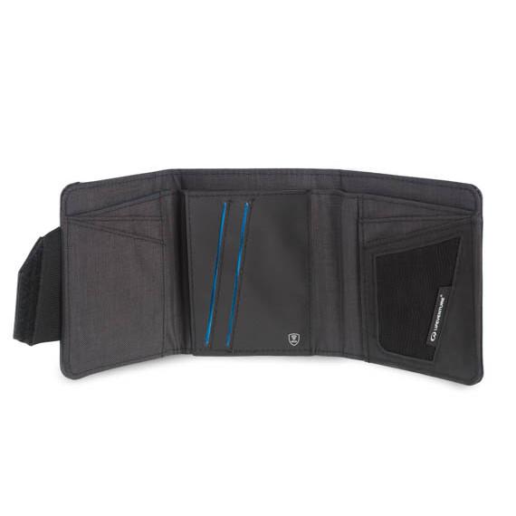 RFID Tri Fold Wallet Open