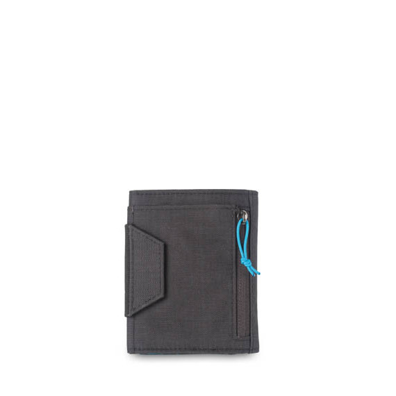 RFID Tri Fold Wallet Zip Pocket