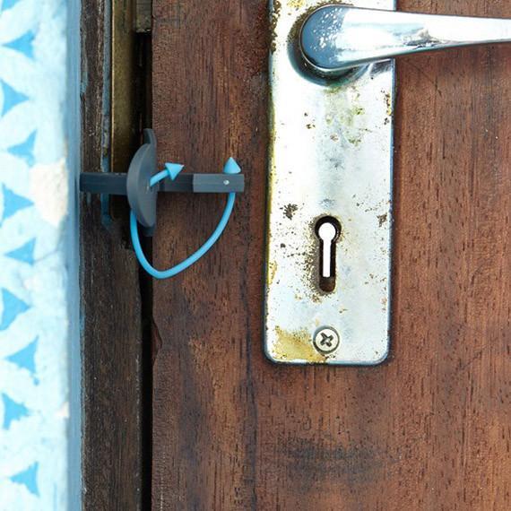 Travel Door Lock in Door