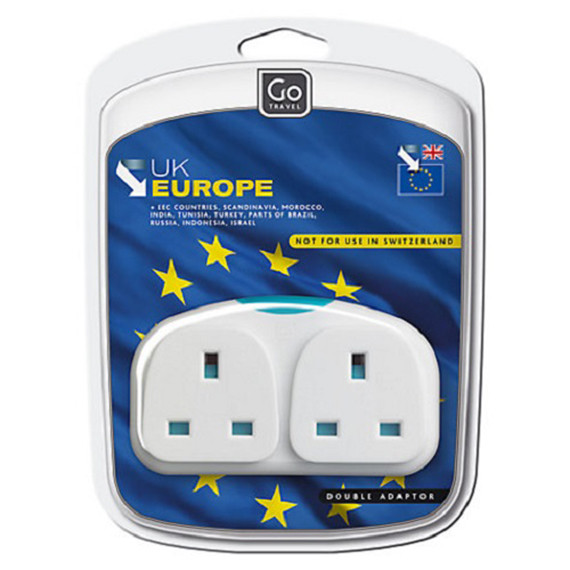 UK Europe Adapater Duo Packaged