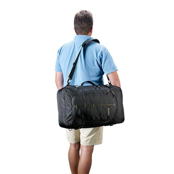 Caribee Skymaster worn as shoulder bag