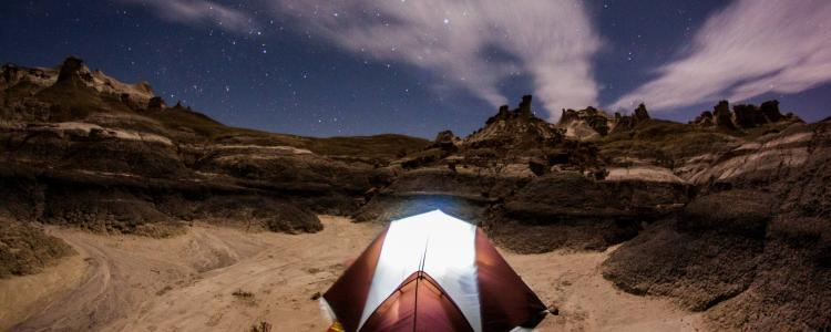 Tent in the Desert at Night
