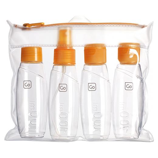 Cabin bottles set inside carry bag