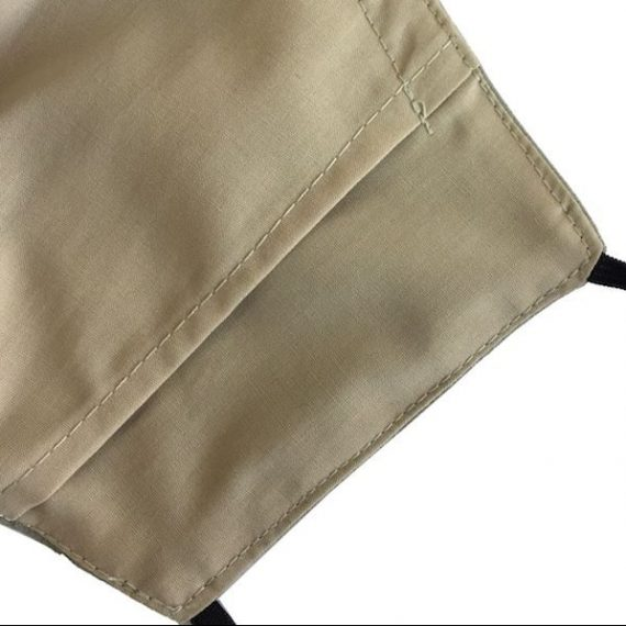 Cotton face mask inner pocket for filter