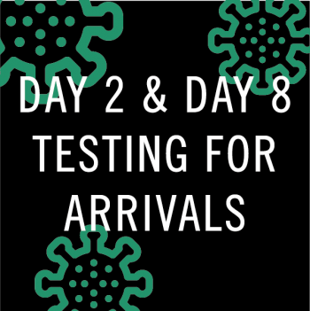 day 2 only or day 2 & day 8 PCR tests