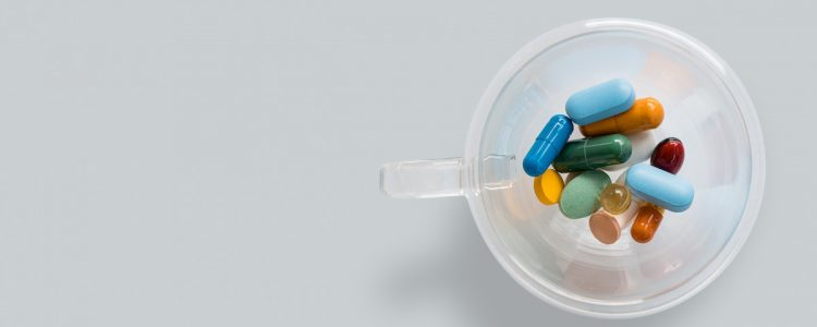 Medication in a saml cup