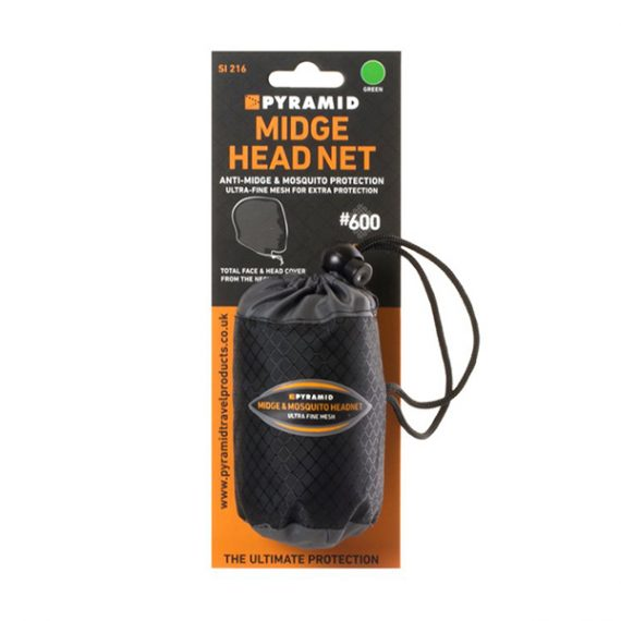 Mosquito Midge Head Net in carry case and packaging