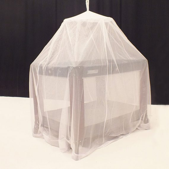 Premium Bell Mosquito Net hanging over a cot