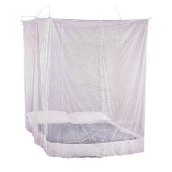 Premium Box Mosquito Net hanging over bed