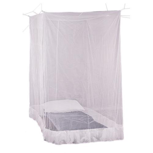 Premium Box Mosquito Net hanging over single bed