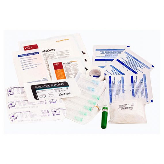 Sterile medical pack contents