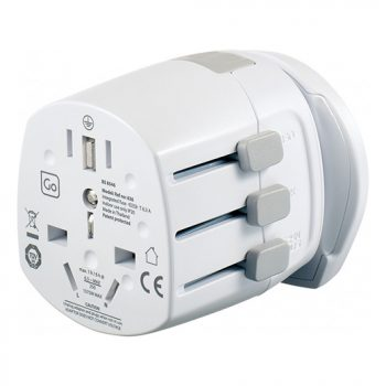 Worldwide adapter adjustable sliders