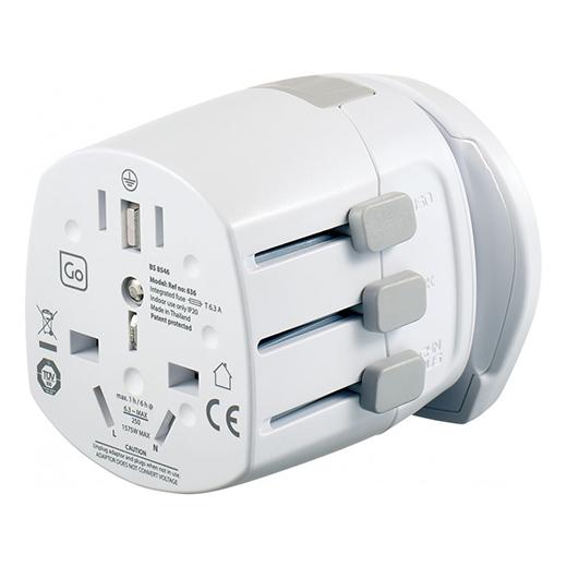 Worldwide adapter adjustable sliders