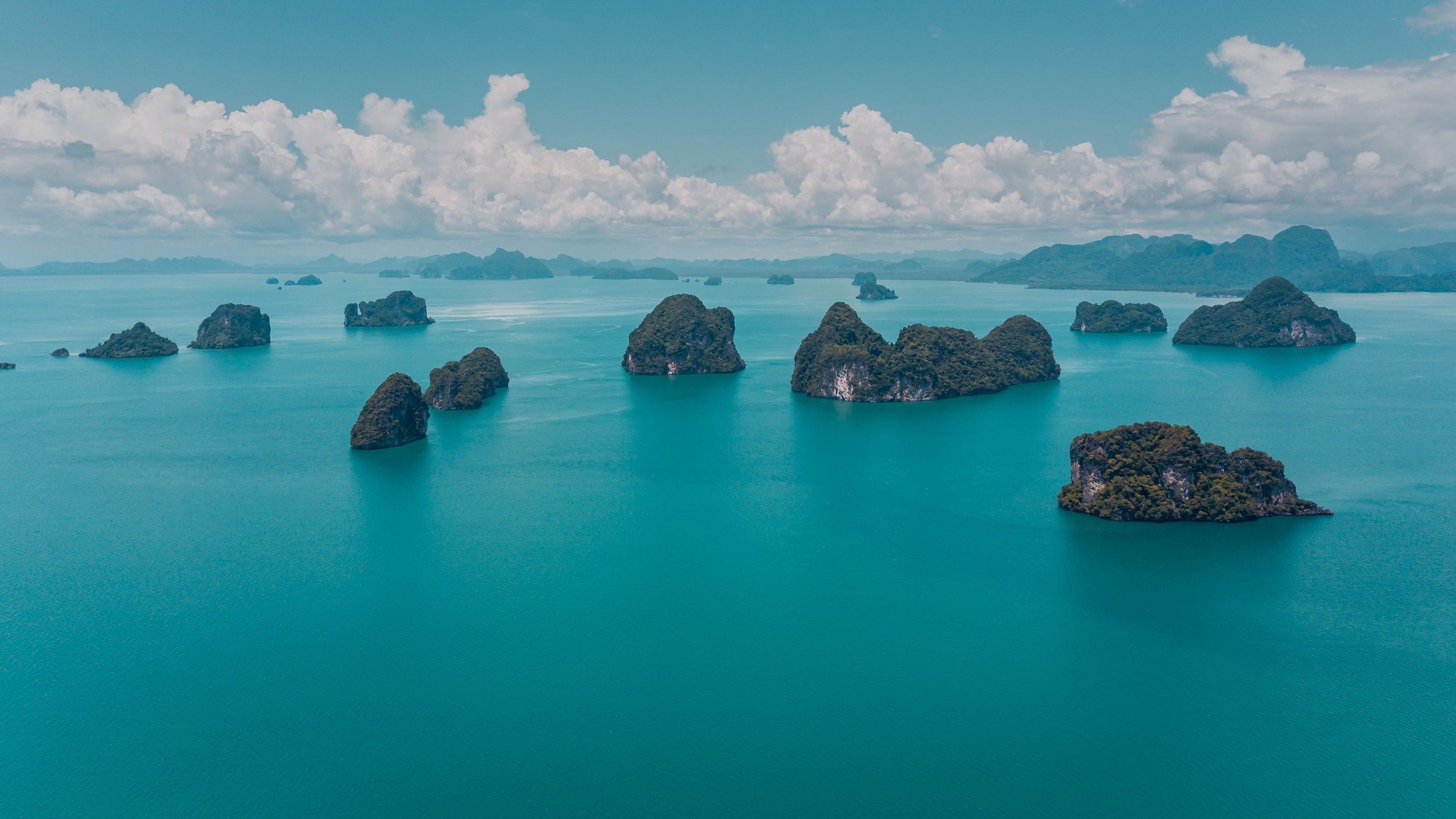 Group of small Thai islands