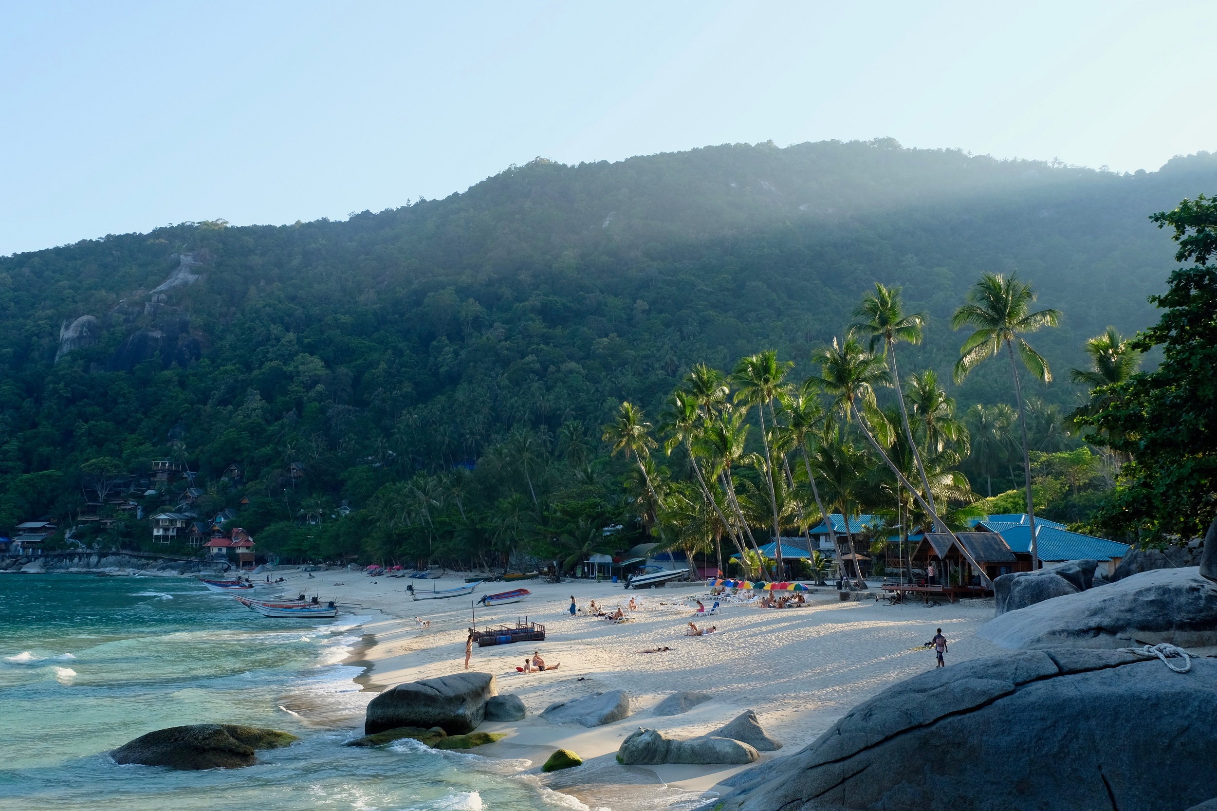 View of a beach on Ko Pha-Ngan island