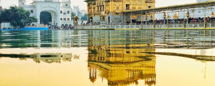 View of the Golden Temple in Amristar - India